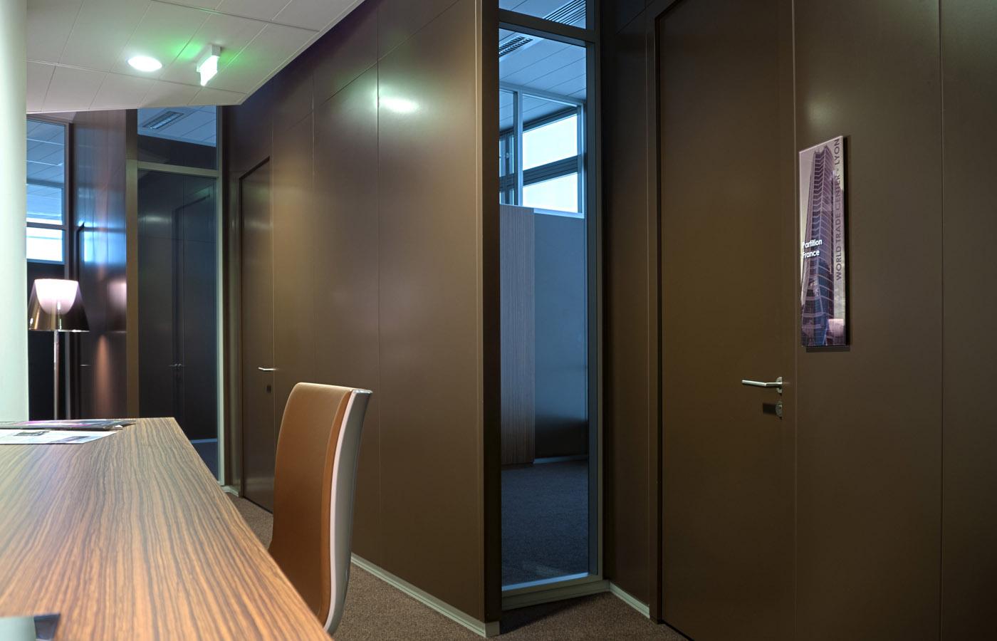 Les bureaux du centre d'affaires WTC-Lyon